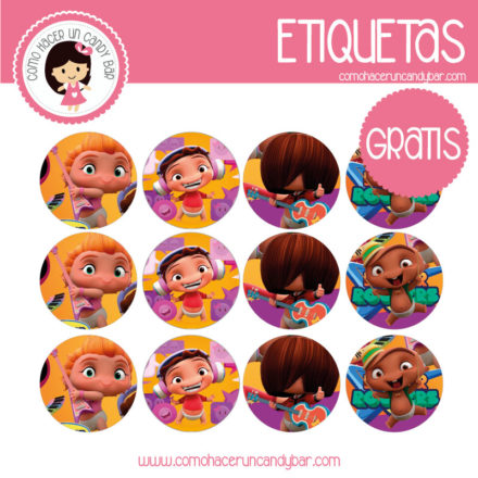 Etiquetas gratis de Minnie beats power rockets