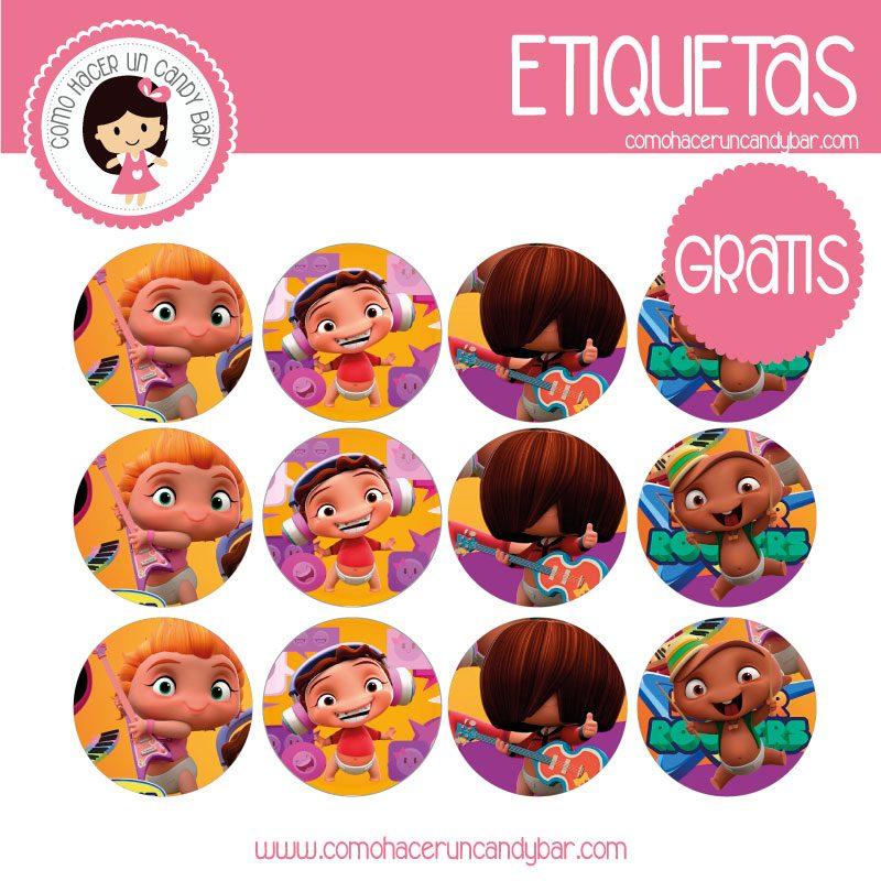 imprimibles gratis Etiquetas gratis de Minnie beats power rockets