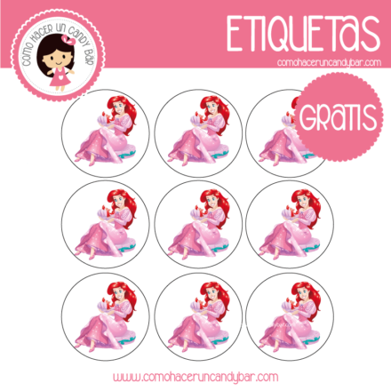 imprimibles gratis Etiquetas gratis de la Sirenita