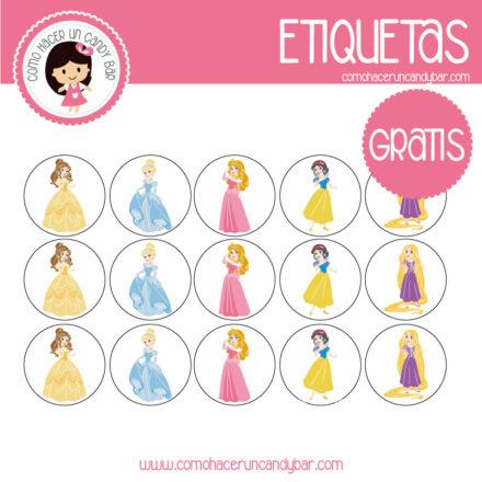 imprimibles gratis Etiquetas gratis de Princesas