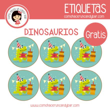 imprimibles gratis Etiquetas gratis de Dinosaurios