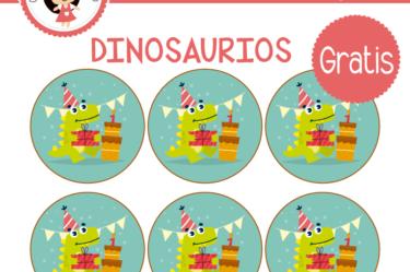 Etiquetas gratis de Dinosaurios