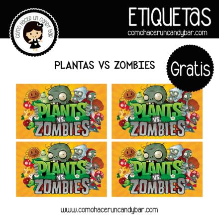 imprimibles gratis Etiquetas gratis de planta vs Zombies
