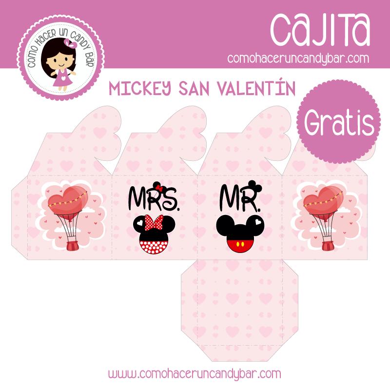 imprimibles gratis Cajita de san valentin gratis