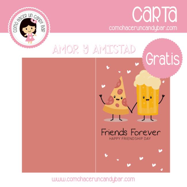 tarjeta de amistad para imprimir gratis