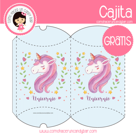Caja de Unicornio imprimible gratis para descargar