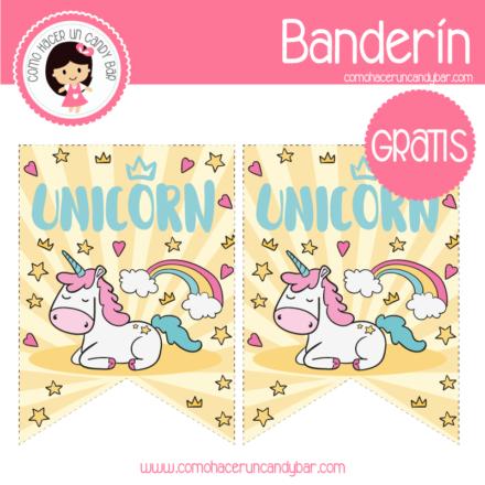 imprimibles gratis Imprimible Canderin Unicornio descargable