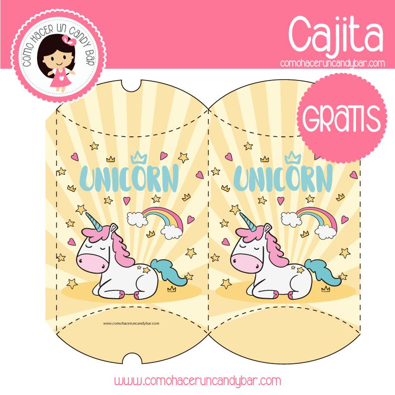 imprimibles gratis Imprimible gratis caja de unicornio