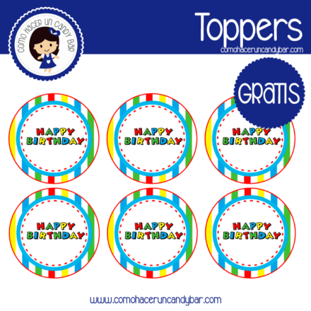 imprimibles gratis etiquetas cumpleaños gratis