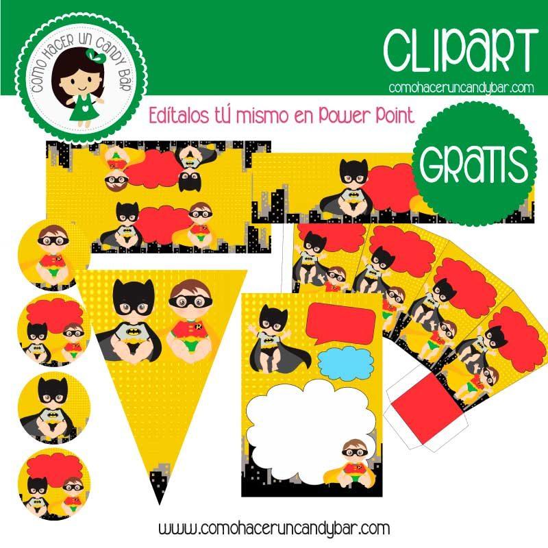 Kit imprimble de batman y robin gratis