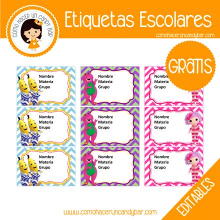 imprimibles gratis Etiqueta Escolar para descargar gratis bananas en pijama
