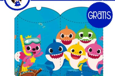 imprimibles gratis cajita baby shark