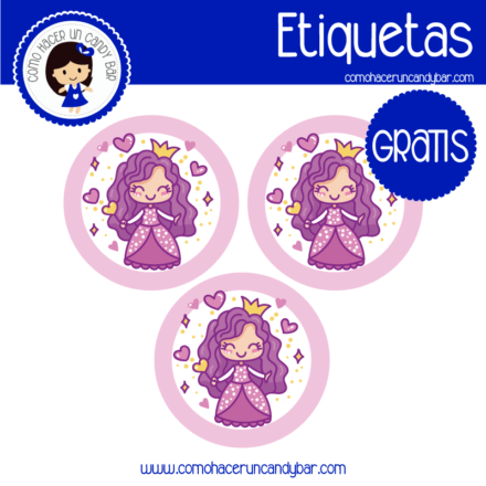 Etiquetas gratis princesa
