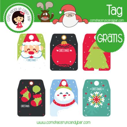 Etiquetas navideñas gratis