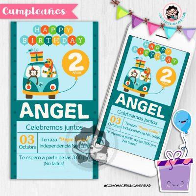 Invitación digital whatsapp cumpleaños fiesta kits imprimibles para fiestas