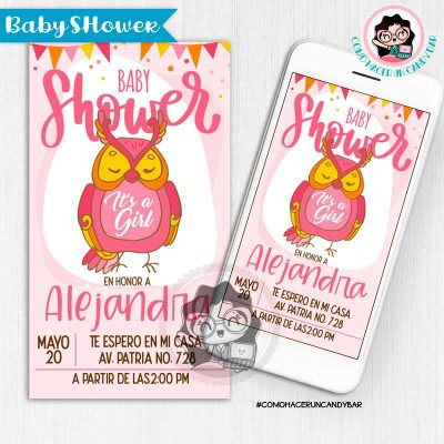 Invitación digital whatsapp Baby Shower kits imprimibles para fiestas