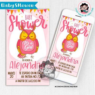 Invitación digital whatsapp Baby Shower kits imprimibles para fiestas