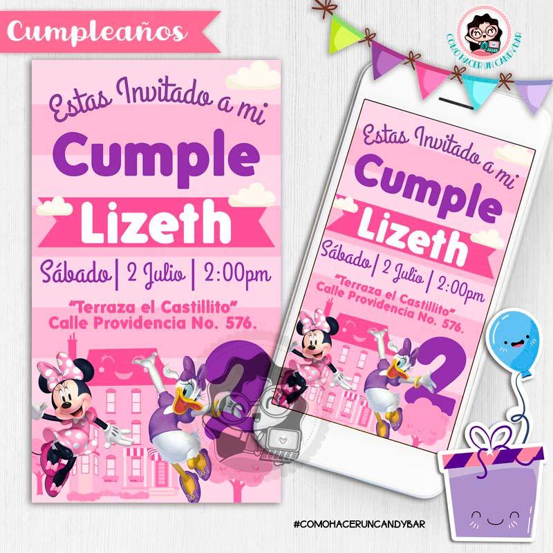 Invitación digital whatsapp mimi y daisy kits imprimibles para fiestas