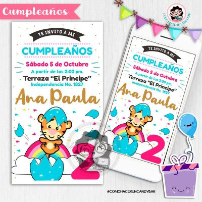 Invitación digital whatsapp Tigger winnie pooh kits imprimibles para fiestas