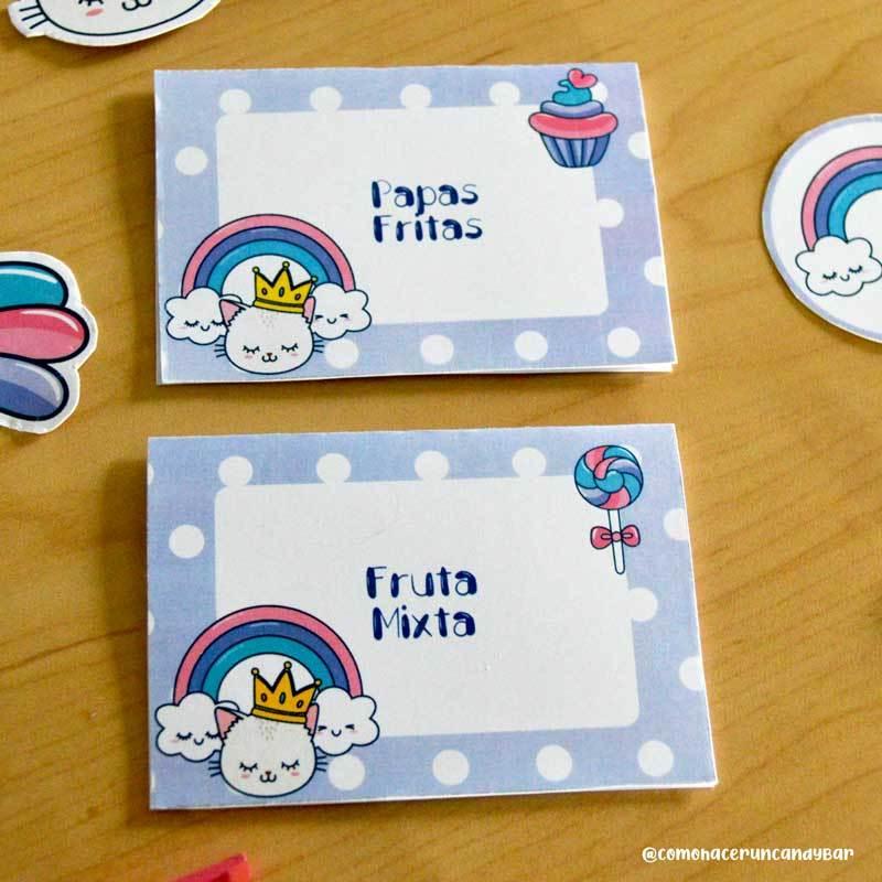Letreritos imprimibles cumpleaños