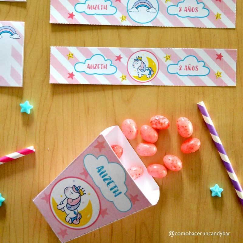 Princesa Unicornio Kit imprimible fiesta de cumpleaños