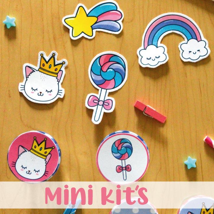 Mini Kits Imprimibles para cumpleaños