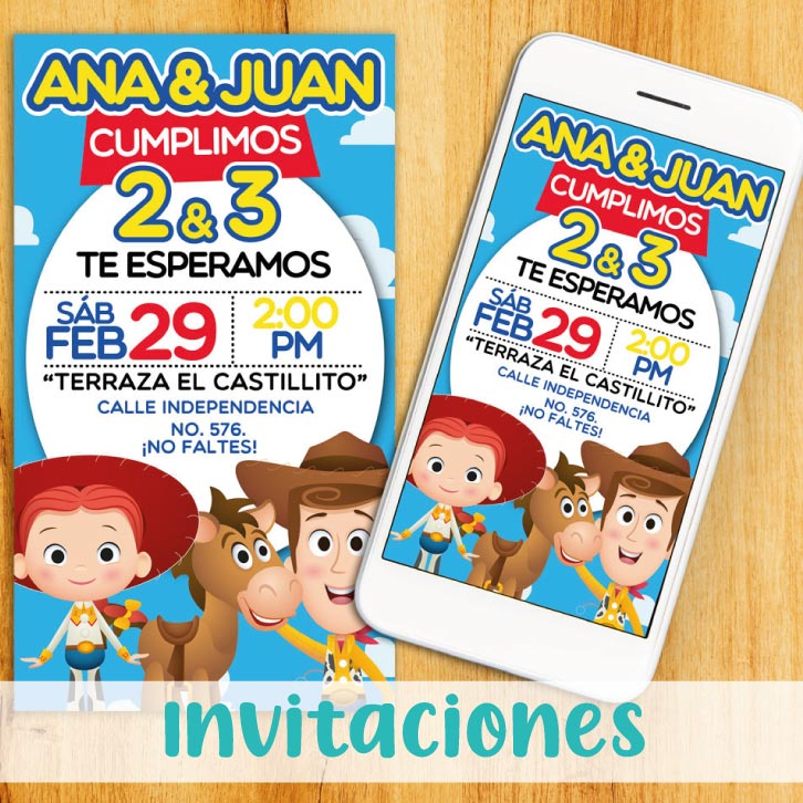 Toy Story: Invitaciones Digitales