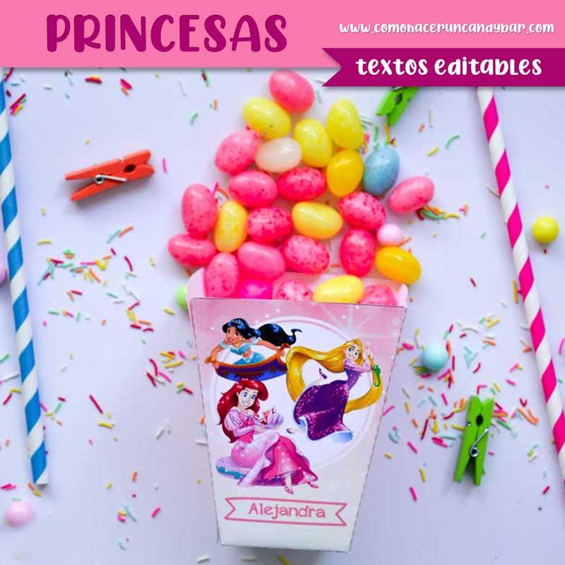 Caja Kit imprimible Princesas Disney