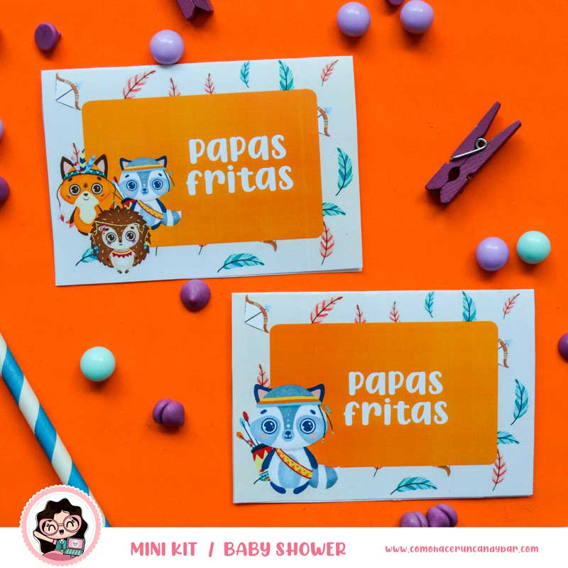 Topper Kit imprimible Baby Shower Animales