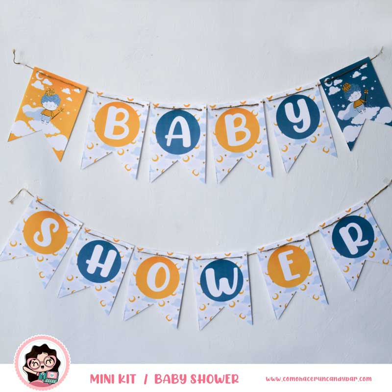 Banderín Kit imprimible Baby Shower