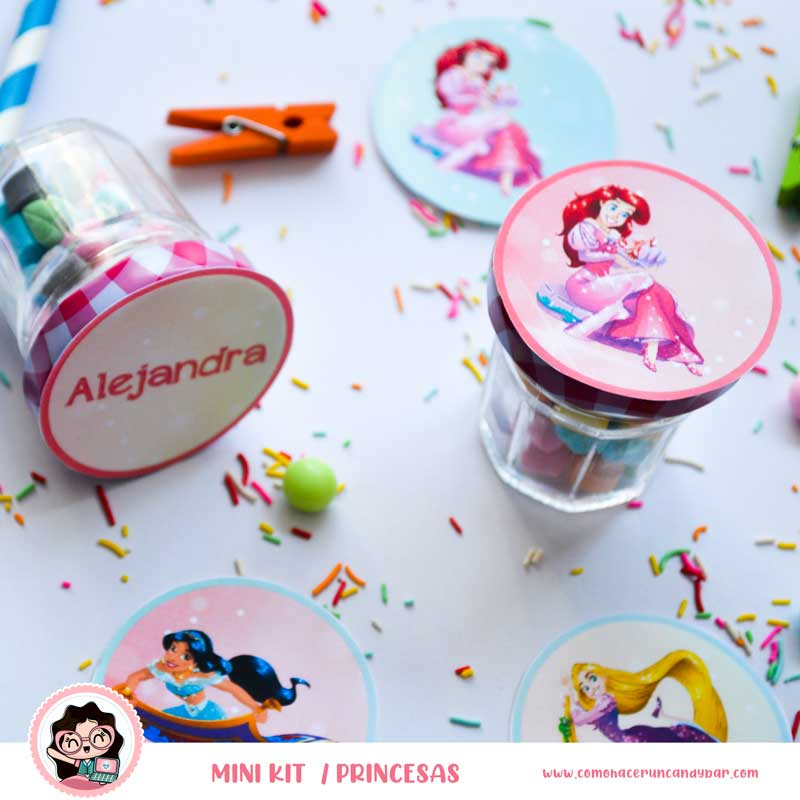 kit imprimible Princesas Disney topper