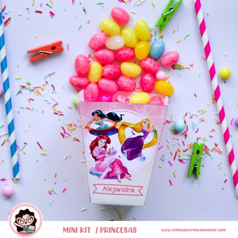 kit imprimible Princesas Disney Caja