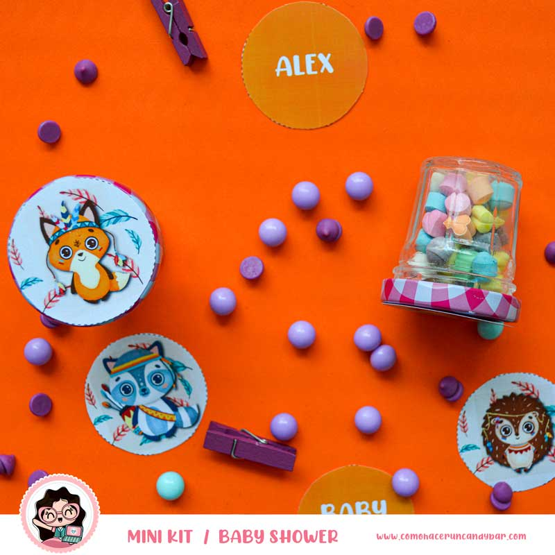 Etiqueta Kit imprimible Baby Shower Animales