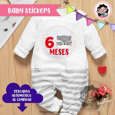 stickers para bebes meses de nacimiento