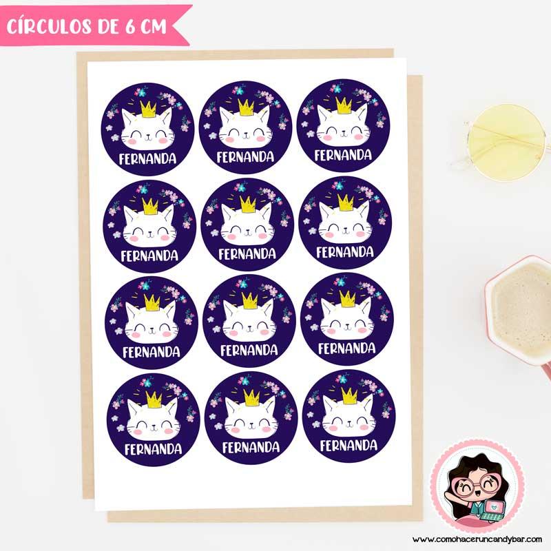 Sticker digital para imprimir gatito